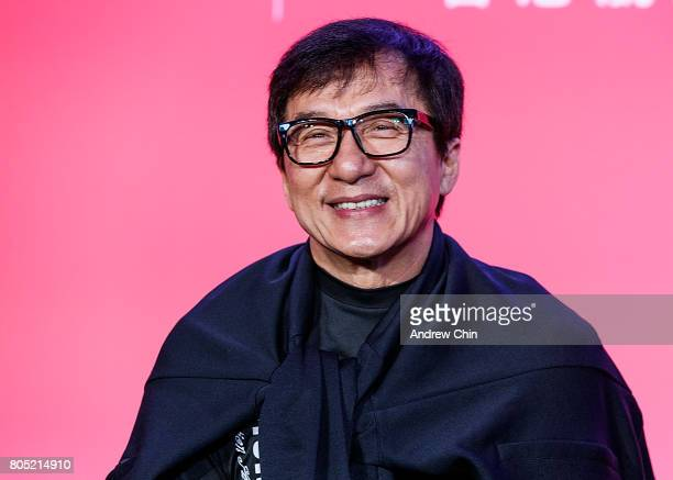 Actor martial artist Jackie Chan attends the media QA session at Fairmont Pacific Rim on June 30 2017 in Vancouver Canada
