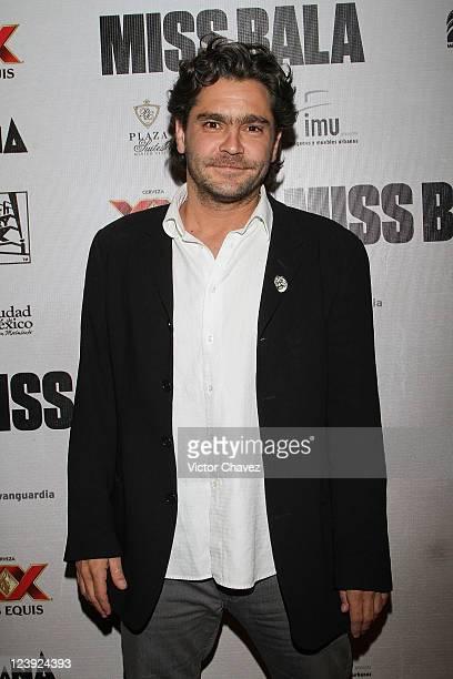 Actor Martin Altomaro attends the Miss Bala Mexico City premiere at Teatro de La Ciudad on September 5 2011 in Mexico City Mexico