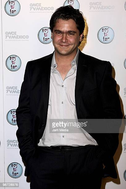 Actor Martin Altomaro poses during Photo Call of the series of television I'm your fan at the Plaza Antara on April 27 2010 in Mexico City Mexico