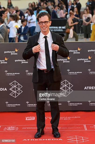 Actor Martin Bacigalupo attends Nuestros Amantes premiere at the Cervantes Teather during the 19th Malaga Film Festival on April 30 2016 in Malaga...