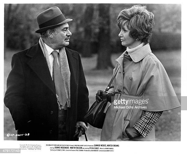 Actor Martin Balsam and actress Joanne Woodward in a scene from the Columbia Pictures movie Summer Wishes Winter Dreams circa 1973