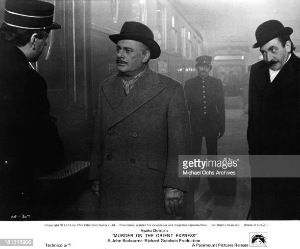 Actor Martin Balsam on the set of the Paramount Pictures movie 'Murder on the Orient Express' in 1974