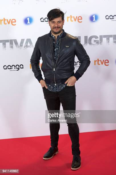 Actor Martin Barreiro attends 'Fugitiva' Tv Series at the Callao cinema on April 2 2018 in Madrid Spain