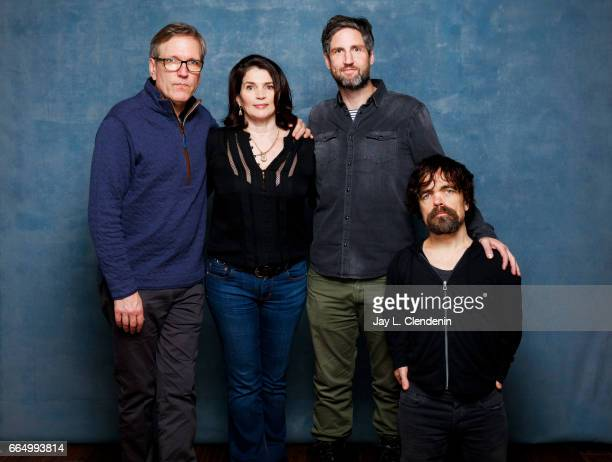 Actor Martin Donovan actress Julia Ordmond director Mark Palansky and actor Peter Dinklage from the film Rememory are photographed at the 2017...