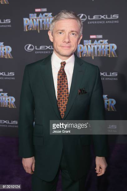 Actor Martin Freeman at the Los Angeles World Premiere of Marvel Studios' BLACK PANTHER at Dolby Theatre on January 29 2018 in Hollywood California