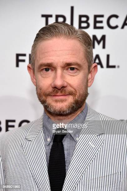 Actor Martin Freeman attends Cargo Red Carpet Premiere 2018 Tribeca Film Festival at SVA Theatre on April 19 2018 in New York City