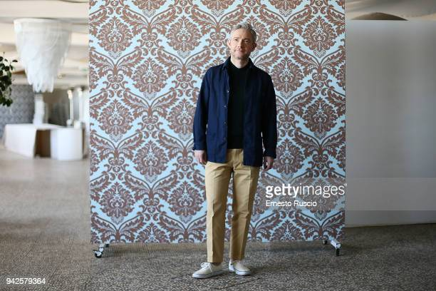 Actor Martin Freeman attends 'Ghost Stories' photocall at Boscolo Hotel on April 6 2018 in Rome Italy