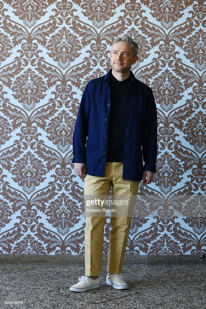 Actor Martin Freeman attends 'Ghost Stories' photocall at Boscolo Hotel on April 6, 2018 in Rome, Italy.