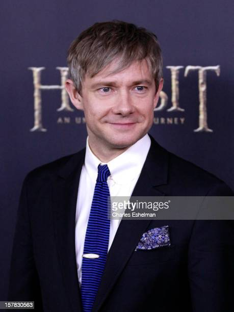 "Actor Martin Freeman attends ""The Hobbit: An Unexpected Journey"" premiere at the Ziegfeld Theater on December 6, 2012 in New York City."