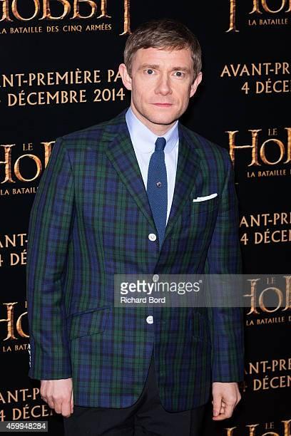 Actor Martin Freeman attends 'The Hobbit : The Battle Of The Five Armies' Paris Premiere at Le Grand Rex on December 4, 2014 in Paris, France.