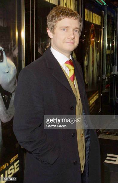 Actor Martin Freeman attends the London premiere of the Ali G film 'Indahouse' in Mayfair London on March 20th 2002 Martin known better for his role...
