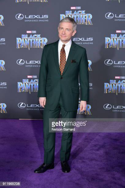 Actor Martin Freeman attends the premiere of Disney and Marvel's Black Panther at Dolby Theatre on January 29 2018 in Hollywood California