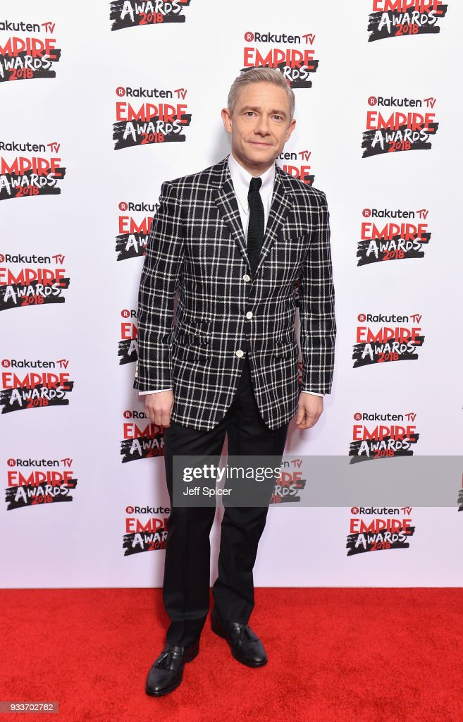 Actor Martin Freeman attends the Rakuten TV EMPIRE Awards 2018 at The Roundhouse on March 18, 2018 in London, England.