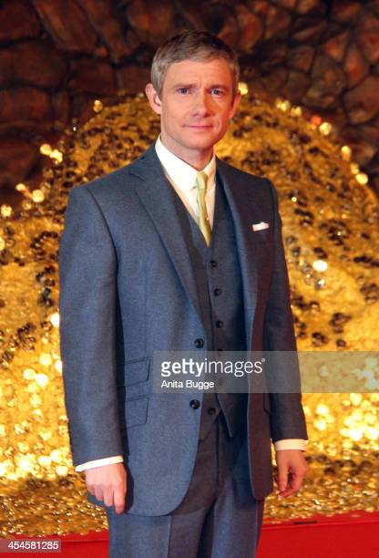 Actor Martin Freeman attends the 'The Hobbit The Desolation of Smaug' European Premiere at Cinestar on December 9 2013 in Berlin Germany