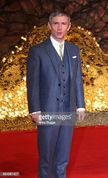 """Actor Martin Freeman attends the """"The Hobbit: The Desolation of Smaug"""" European Premiere at Cinestar on December 9, 2013 in Berlin, Germany."""