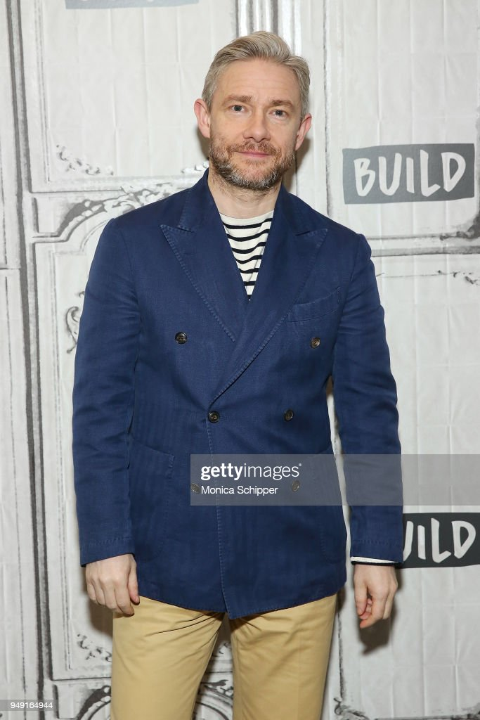 Actor Martin Freeman visits Build Studio to discuss his new film 'Ghost Stories' on April 19, 2018 in New York City.