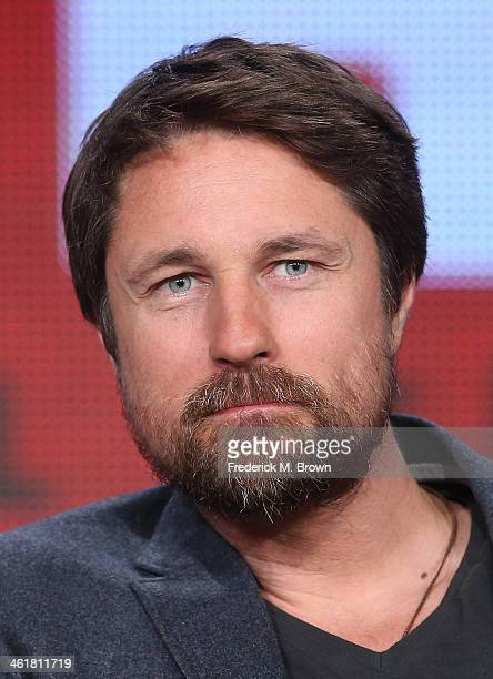 Actor Martin Henderson speaks onstage during the 'Sundance Channel - The Red Road' panel discussion at the AMC/Sundance portion of the 2014 Winter...