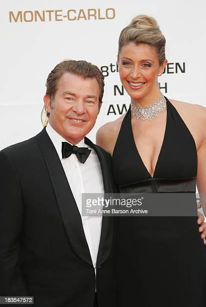 Actor Martin Lamotte and his wife Karine Belly attend the Golden Nymph awards ceremony during the 2008 Monte Carlo Television Festival held at...