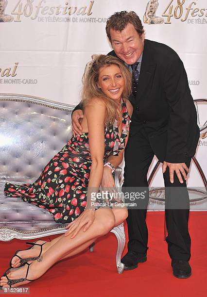 Actor Martin Lamotte and his wife Karine Belly attend the TF1 party on the fourth day of the 2008 Monte Carlo Television Festival held at Grimaldi...