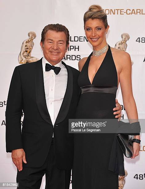 Actor Martin Lamotte and his wife Karine Belly attends the Golden Nymph awards ceremony during the 2008 Monte Carlo Television Festival held at...