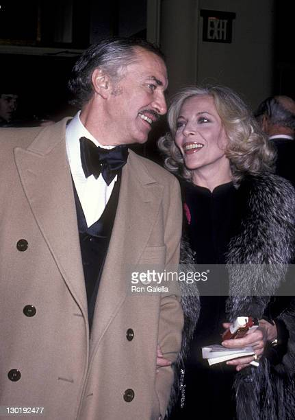 Actor Martin Landau and Barbara Bain attend First Annual Actor's Studio Awards on November 5 1980 at the Waldorf Hotel in New York City
