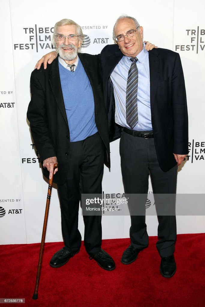 Actor Martin Landau (L) and director Dr. Howard Weiner attend the premiere of 'The Last Poker Game', during the 2017 Tribeca Film Festival, at Regal Battery Park Cinemas on April 24, 2017 in New York City.