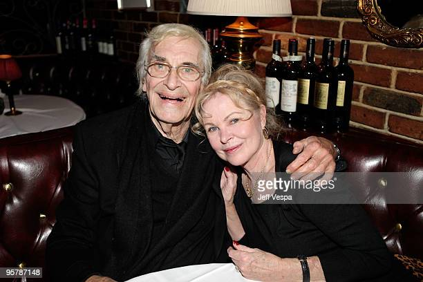 Actor Martin Landau and musician Michelle Phillips attend a cocktail party for 'A Single Man' on January 14 2010 in Beverly Hills California