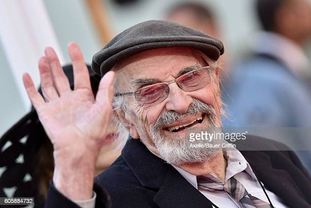 Actor Martin Landau attends the Hand and Footprint Ceremony honoring Tim Burton at TCL Chinese 6 Theatres on September 8 2016 in Hollywood California