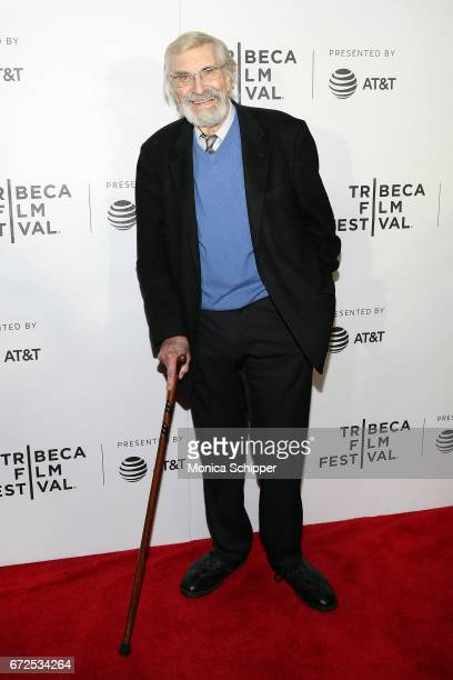 Actor Martin Landau attends the premiere of 'The Last Poker Game' during the 2017 Tribeca Film Festival at Regal Battery Park Cinemas on April 24...