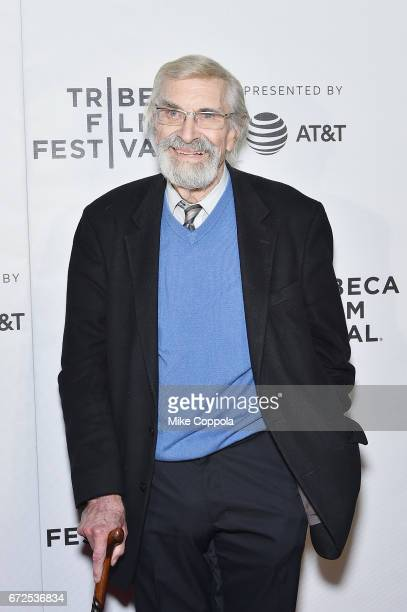 Actor Martin Landau attends the 'The Last Poker Game' Premiere 2017 Tribeca Film Festival at Regal Battery Park Cinemas on April 24 2017 in New York...