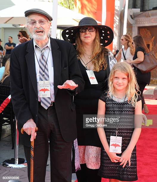Actor Martin Landau daughter Susan Landau Finch and granddaughter Aria Finch attend director Tim Burtons Hand And Footprint Ceremony at TCL Chinese 6...