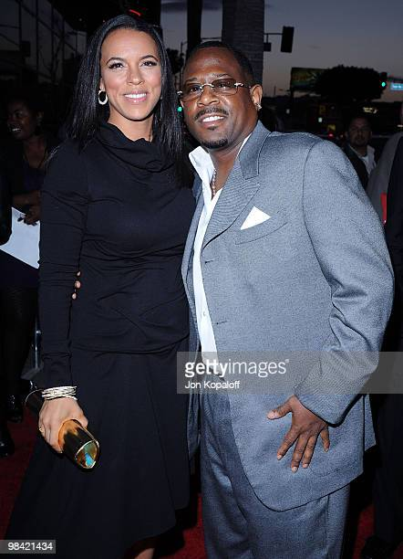 Actor Martin Lawrence and guest arrive at the Los Angeles Premiere Death At A Funeral at the ArcLight Cinemas Cinerama Dome on April 12 2010 in...