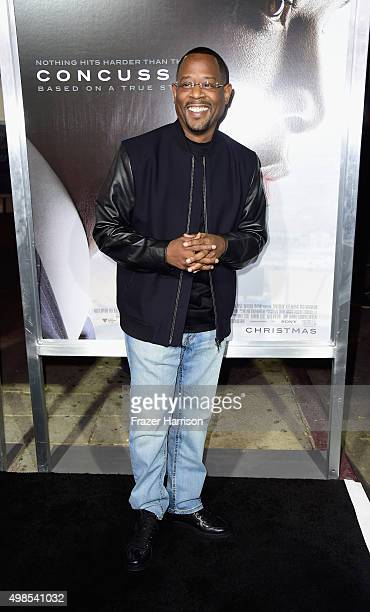 Actor Martin Lawrence arrives at the Screening Of Columbia Pictures' Concussion at Regency Village Theatre on November 23 2015 in Westwood California