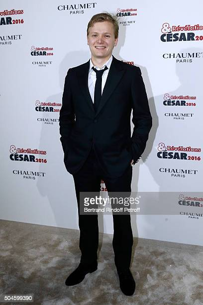 Actor Martin Loizilion nominated for 'Fever' attends the 'Cesar Revelations 2016' Photocall at Chaumet followed by a dinner at Hotel Meurice on...