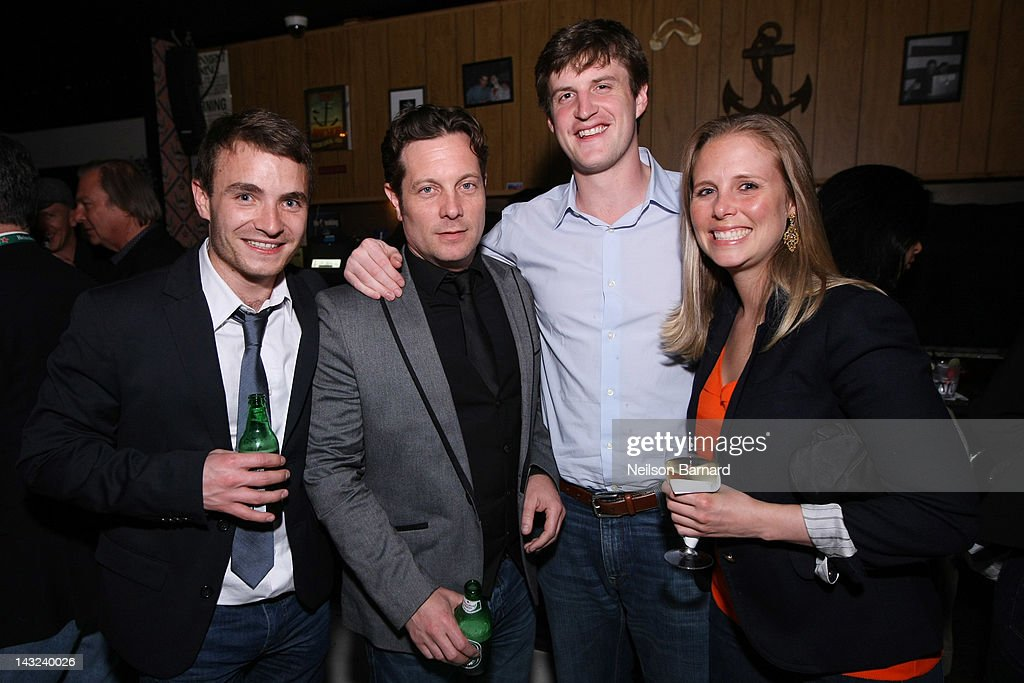 Actor Martin McCann (L) and guests attend the Tribeca Film Festival 2012 After-Party for 'Whole Lotta Sole' at Anchor Bar on April 22, 2012 in New York City.