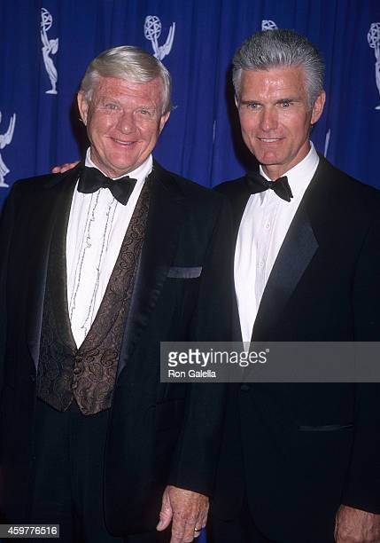Actor Martin Milner and actor Kent McCord attend the 49th Annual Primetime Emmy Awards Creative Arts Emmy Awards on September 7 1997 at the Pasadena...