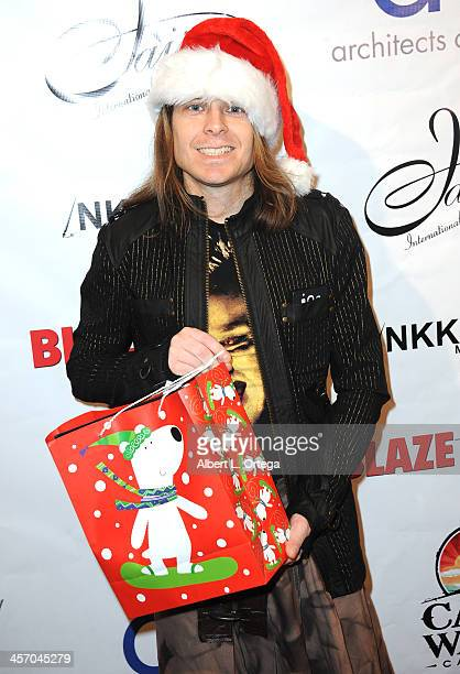 Actor Martin Pierron attends Britticares Toy Drive with a benefit concert by G Tom Mac Many Of Odd Nature in conjunction with publicist Michael...