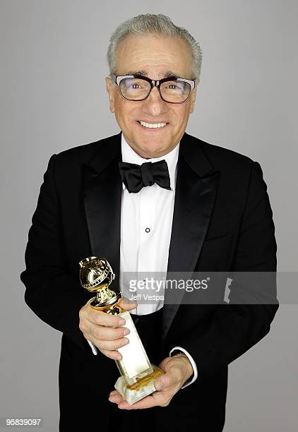 Actor Martin Scorsese poses for a portrait backstage during the 67th Annual Golden Globe Awards at The Beverly Hilton Hotel on January 17 2010 in...