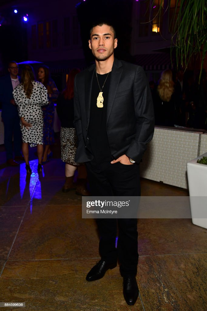 Actor Martin Sensmeier attends a cocktail party for 'Wind River' at Circa 55 Restaurant on December 2, 2017 in Los Angeles, California.