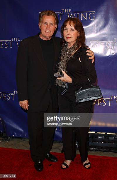 Actor Martin Sheen and his wife Janet arrive at the WB's The West Wing 100th Episode celebration at The Four Seasons Hotel on November 1 2003 in...