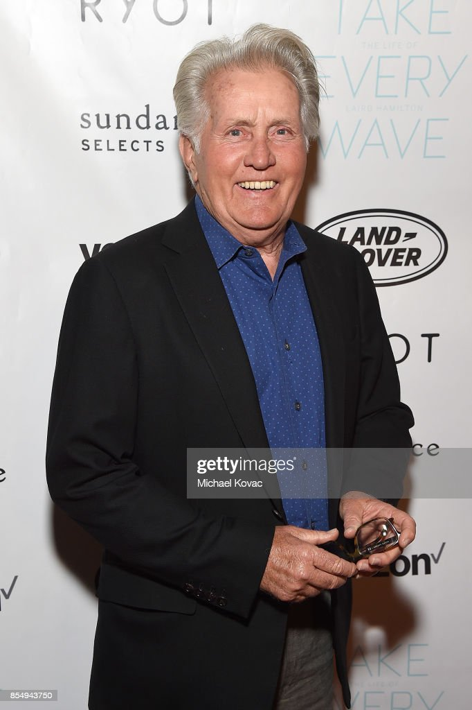 Actor Martin Sheen attends the Los Angeles premiere of 'Take Every Wave: The Life of Laird Hamilton,' sponsored by Land Rover, Verizon and RYOT on September 27, 2017 in Hollywood, California.