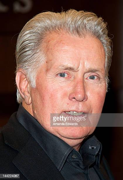 Actor Martin Sheen poses before signing copies of his book cowritten by Emilio Estevez Along The Way at Barnes Noble bookstore at The Grove on May 11...
