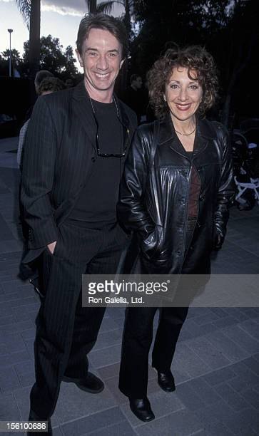 Actor Martin Short and actress Andrea Martin attending the world premiere of 'Jimmy NeutronBoy Genius' on December 9 2001 at Paramount Studios in...