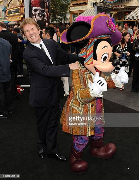 """Actor Martin Short and Mickey Mouse arrive at premiere of Walt Disney Pictures' """"Pirates of the Caribbean: On Stranger Tides"""" held at Disneyland on..."""