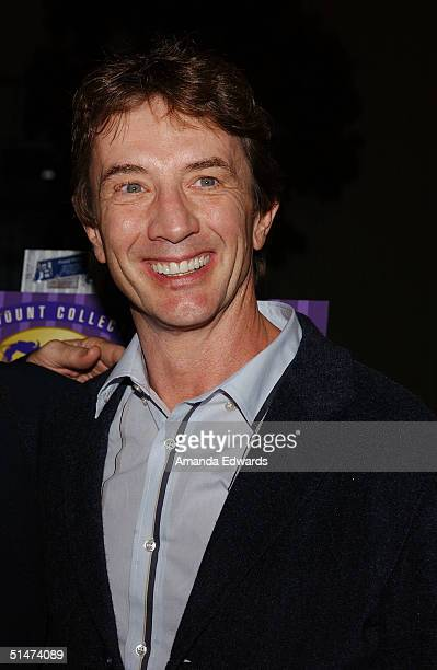 Actor Martin Short arrives at a special screening of The Nutty Professor hosted by Jerry Lewis on October 12 2004 at the Paramount Theater in...