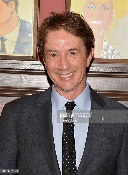 """Actor Martin Short attends Broadway's """"It's Only a Play"""" cast photo call at Sardi's on January 13, 2015 in New York City."""