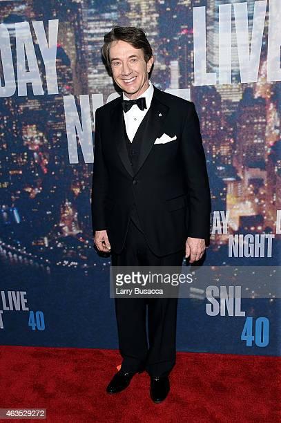 Actor Martin Short attends SNL 40th Anniversary Celebration at Rockefeller Plaza on February 15 2015 in New York City