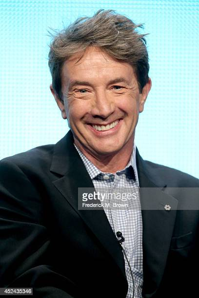 Actor Martin Short speaks onstage at the Mulaney panel during the FOX Network portion of the 2014 Summer Television Critics Association at The...