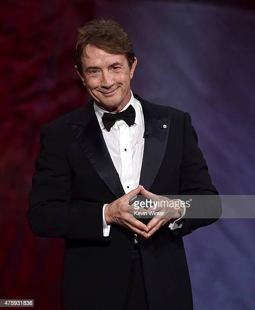 Actor Martin Short speaks onstage during the 2015 AFI Life Achievement Award Gala Tribute Honoring Steve Martin at the Dolby Theatre on June 4 2015...