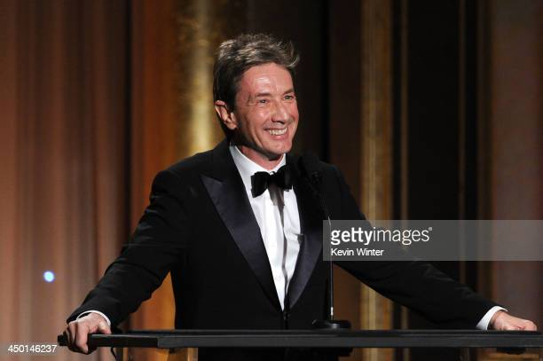 Actor Martin Short speaks onstage during the Academy of Motion Picture Arts and Sciences' Governors Awards at The Ray Dolby Ballroom at Hollywood...